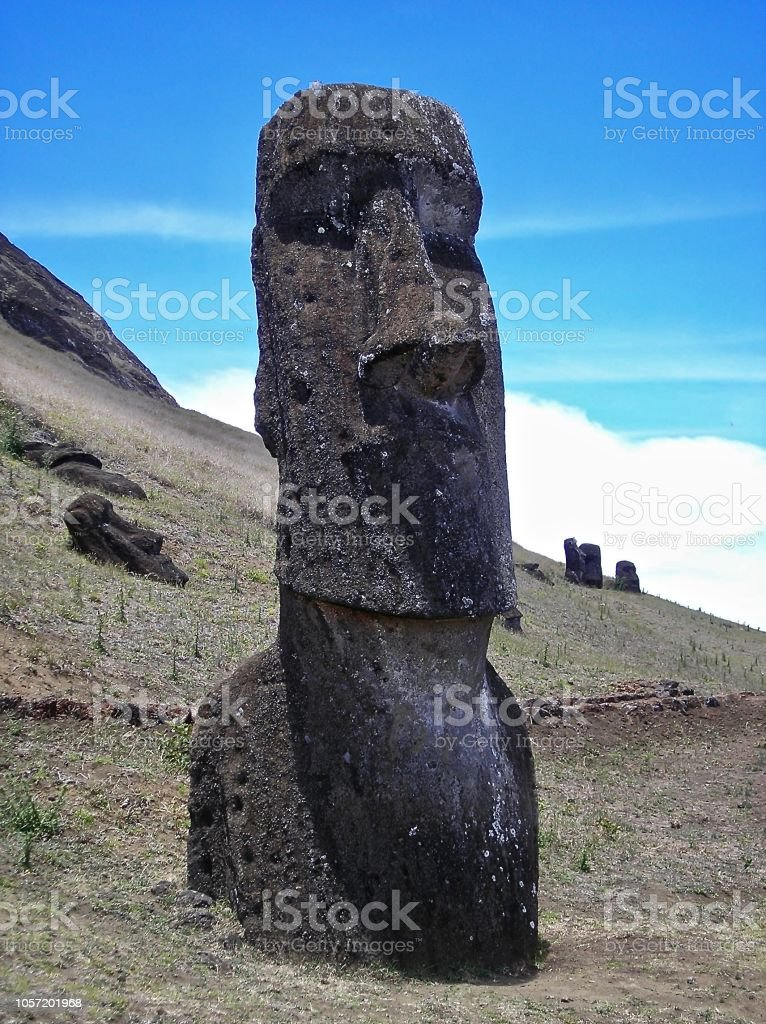 The Watcher - Easter Island stock photo