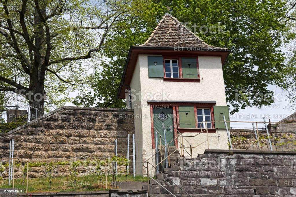 The watchtower in Rapperswil royalty-free stock photo