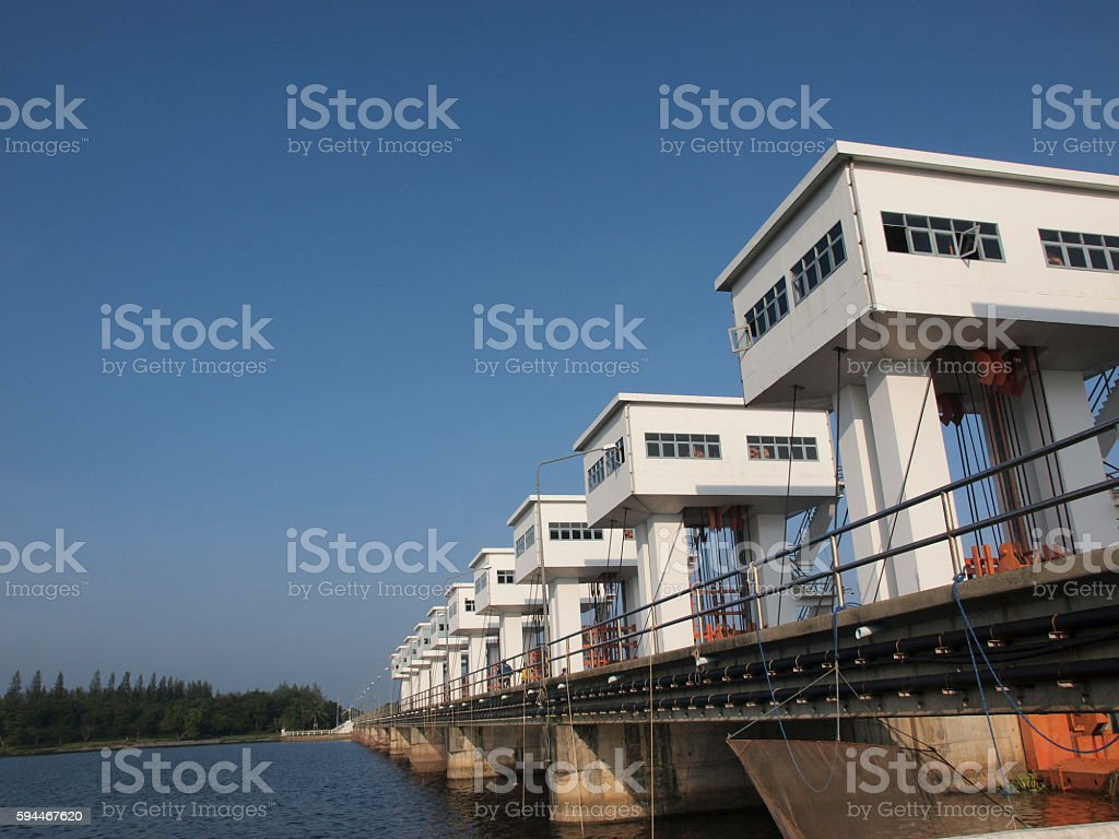 The water gate in southern Thailand stock photo