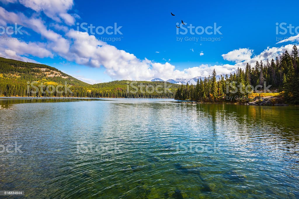 The water of Pyramid Lake stock photo