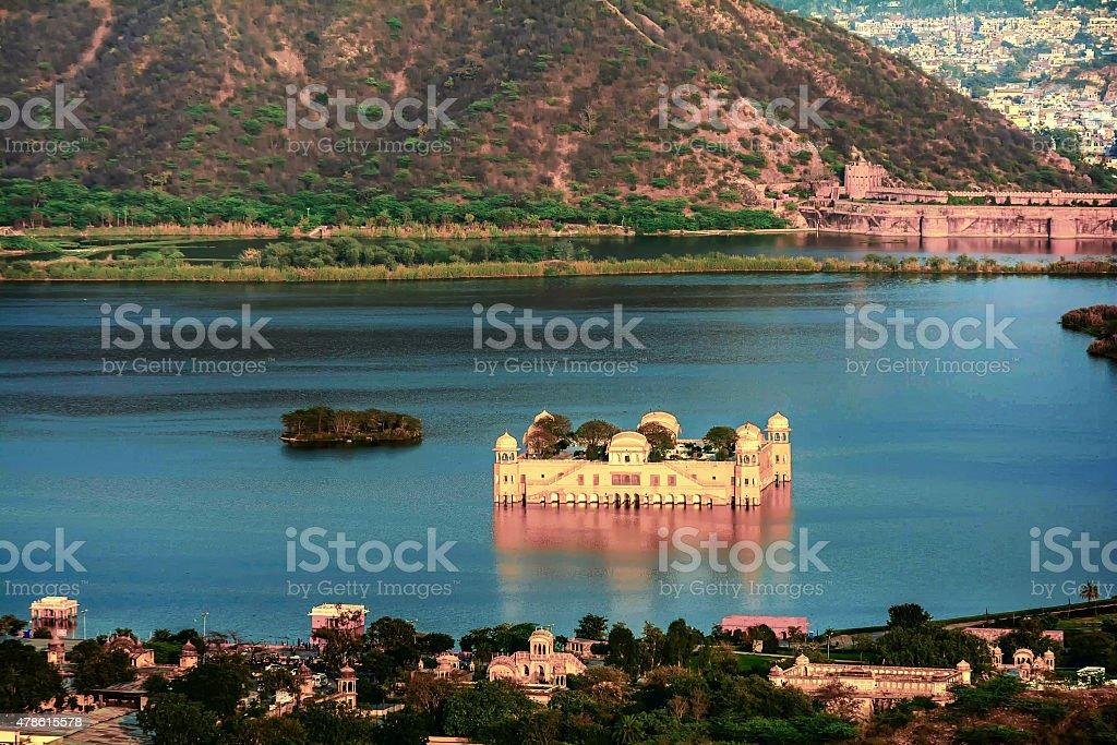 The Water Palace Rajasthan Jaipur, India stock photo