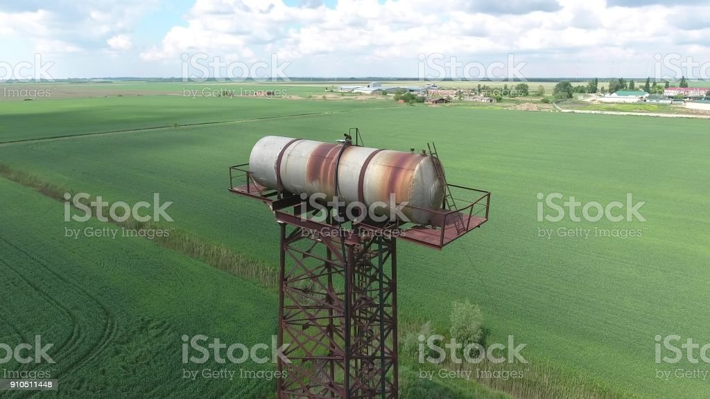 The water tower stock photo