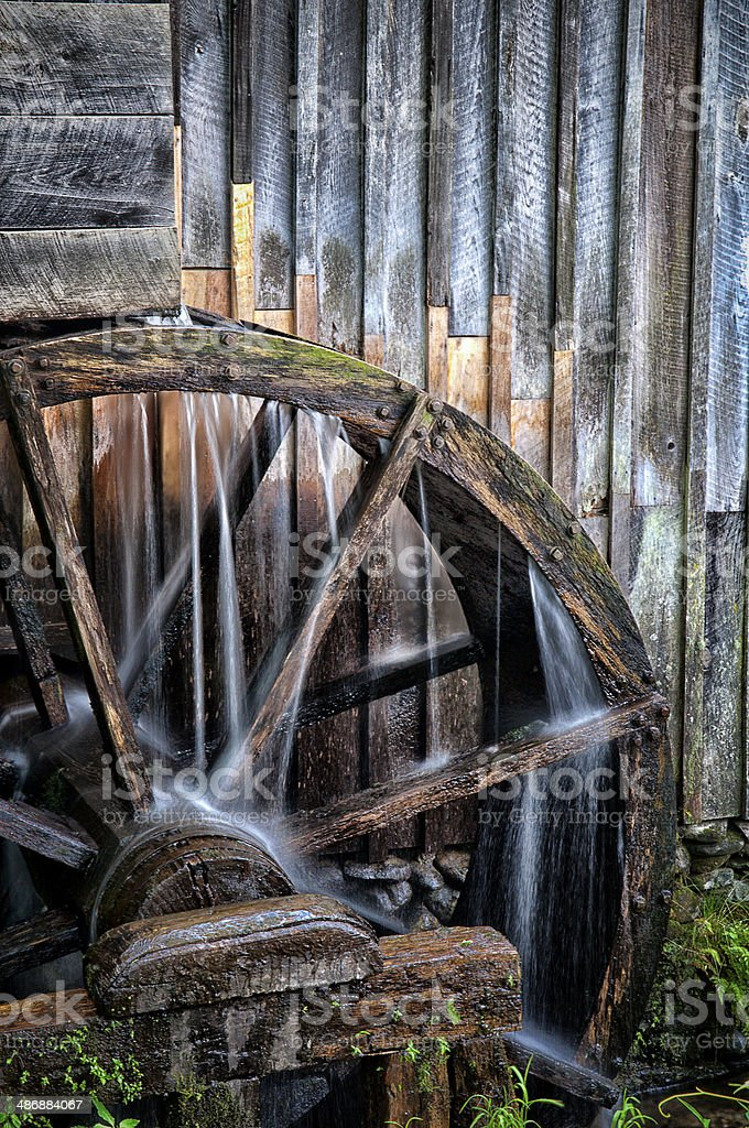 The Water Wheel stock photo