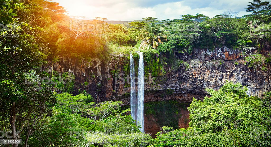 The Waterfalls of Chamarel stock photo