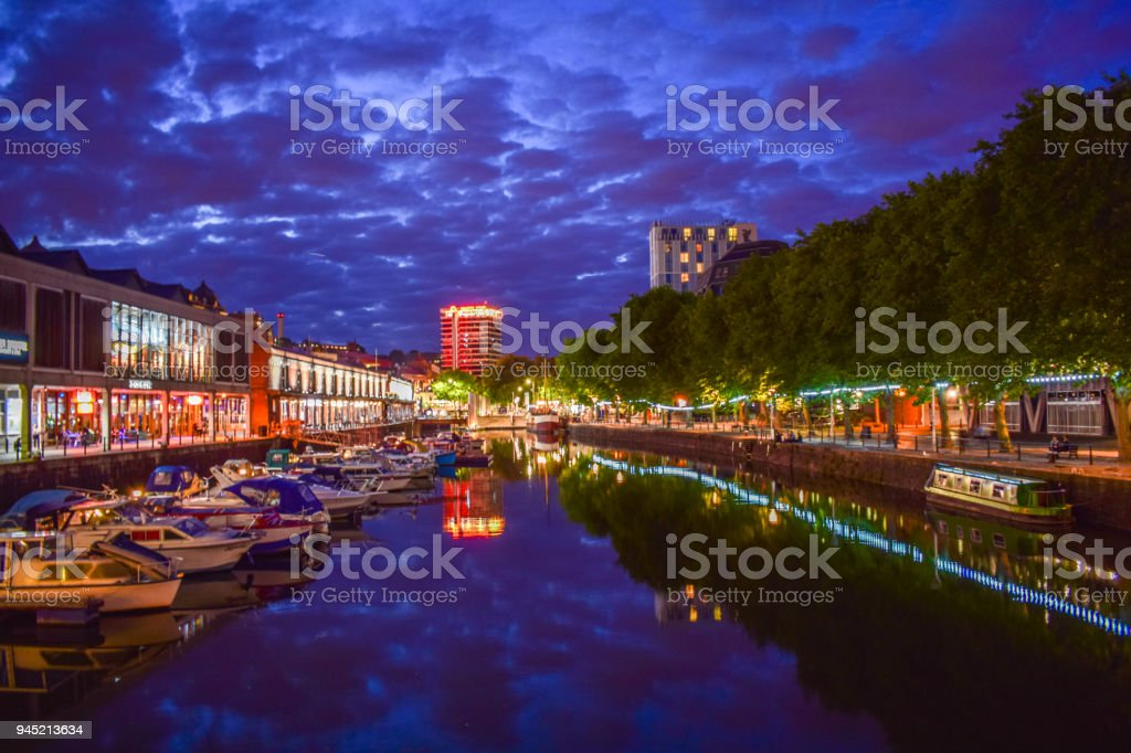 The waterfront in Bristol stock photo