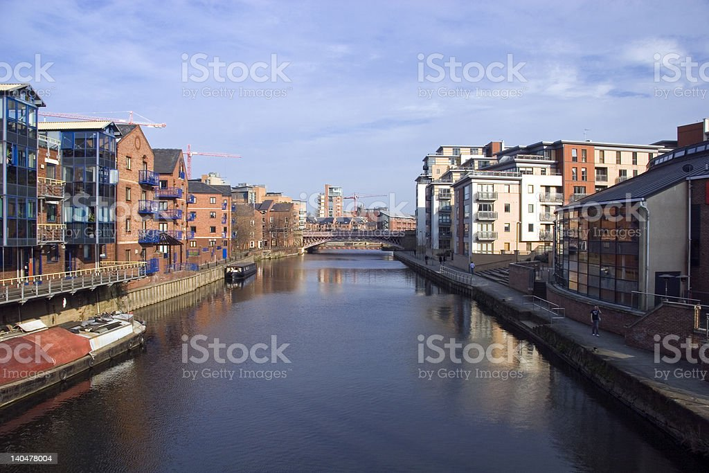 The Waterfront Leeds City Yorkshire royalty-free stock photo
