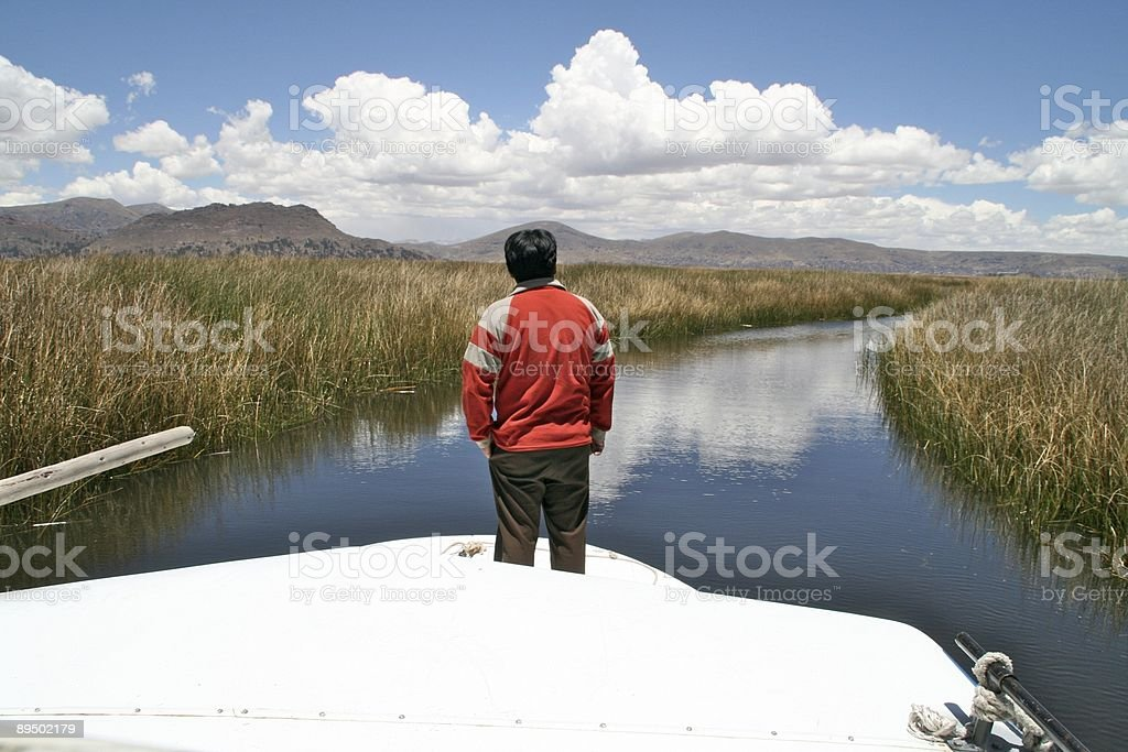 Le acque del Lago Titicaca foto stock royalty-free