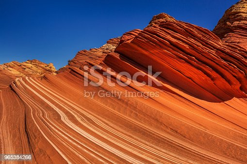 The Wave, Arizona, Canyon Rock Formation. Vermillion Cliffs, Paria Canyon State Park in the United States.
