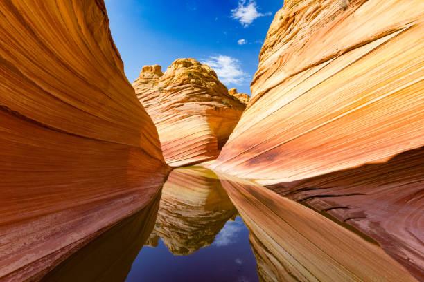 the wave, coyote buttes, vermillion cliffs, paria canyon state park - colorado plateau stock-fotos und bilder