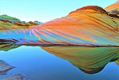 istock The Wave during Sandstone Prism 4 Phenomenon (lighter version that might be better for transfer to photo paper) in Coyote Buttes Area of Vermilion Cliffs National Monument in Arizona U.S.A. 1215329370