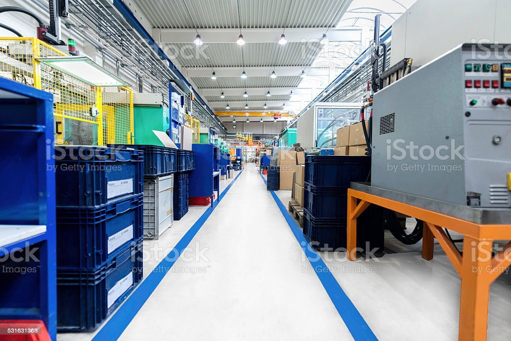 The way forward in factory stock photo