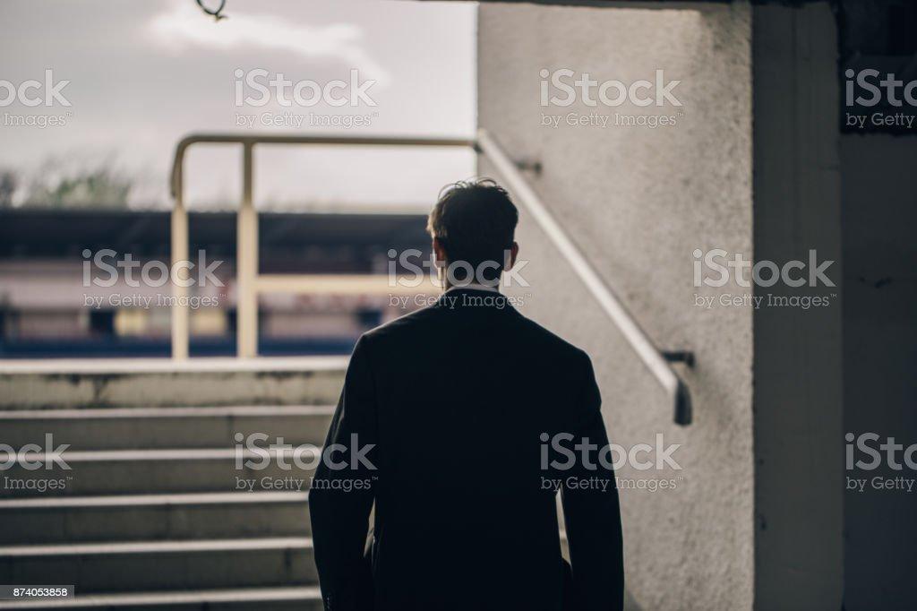 Der Weg nach vorne - Lizenzfrei Anzug Stock-Foto
