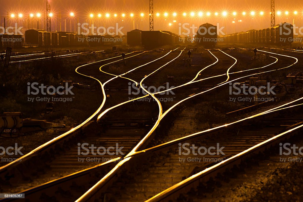 The way forward railway stock photo