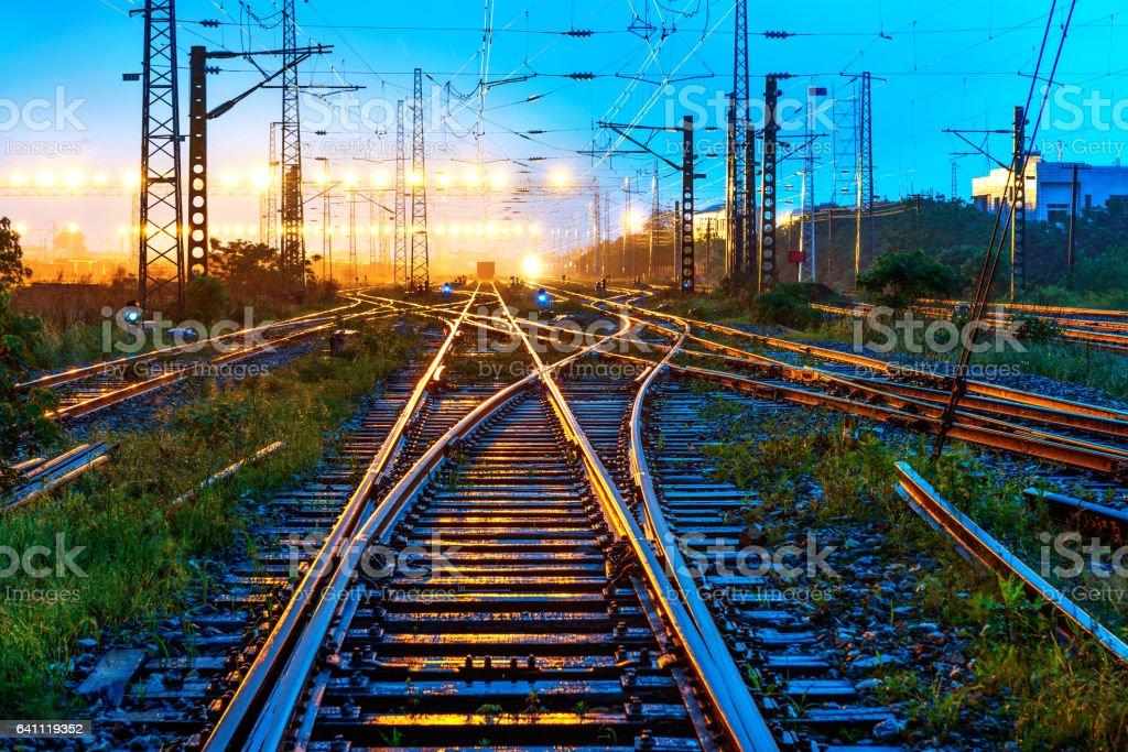 The way forward railway stock photo