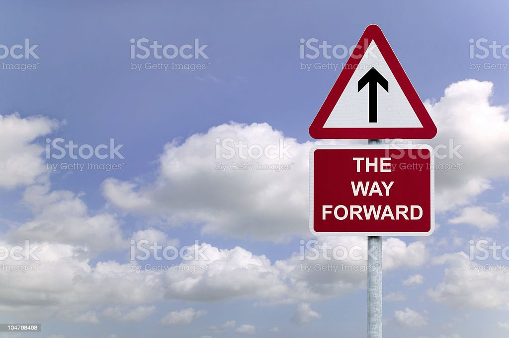 The Way forward signpost royalty-free stock photo
