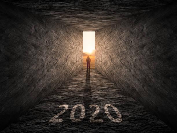la voie à suivre à l'horizon 2020 comme à l'extérieur de la boîte concept - 2020 photos et images de collection