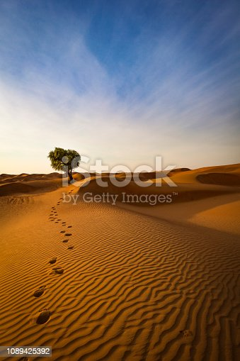 istock the way out of the desert, sultanate of oman 1089425392