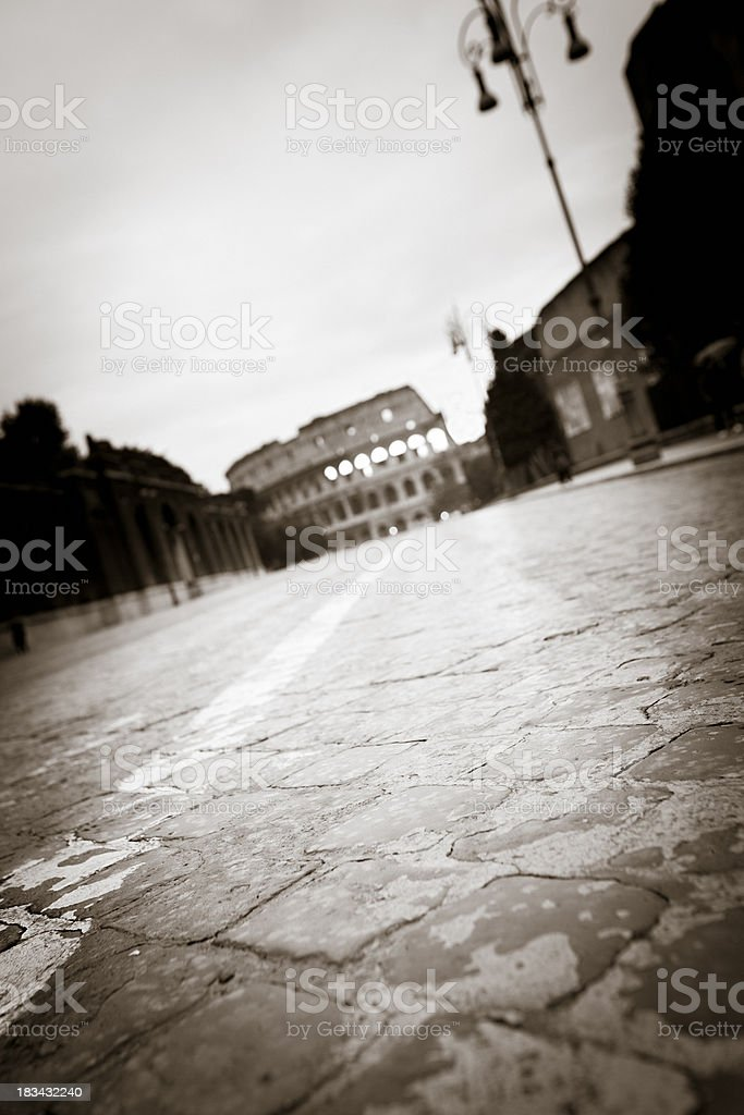 The way to Colosseum royalty-free stock photo