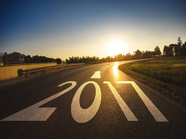 the way to new year 2017 - new year day stock photos and pictures