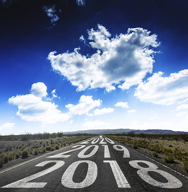 The way to new year 2018 - foto de stock
