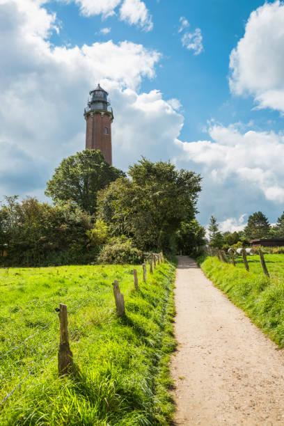 Der Weg zum Leuchtturm Neues Land an der Ostsee – Foto