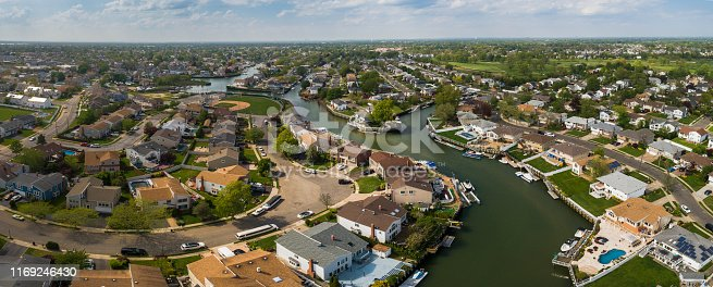 Aerial picture of Oceanside, Queens, New York City, USA.