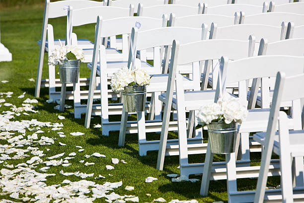 The Wedding Aisle stock photo