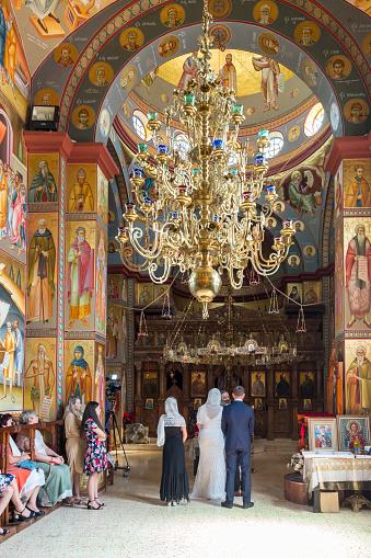 カペナウム町 の十二使徒定員会のギリシャ正教修道院で正教会の伝統で ...