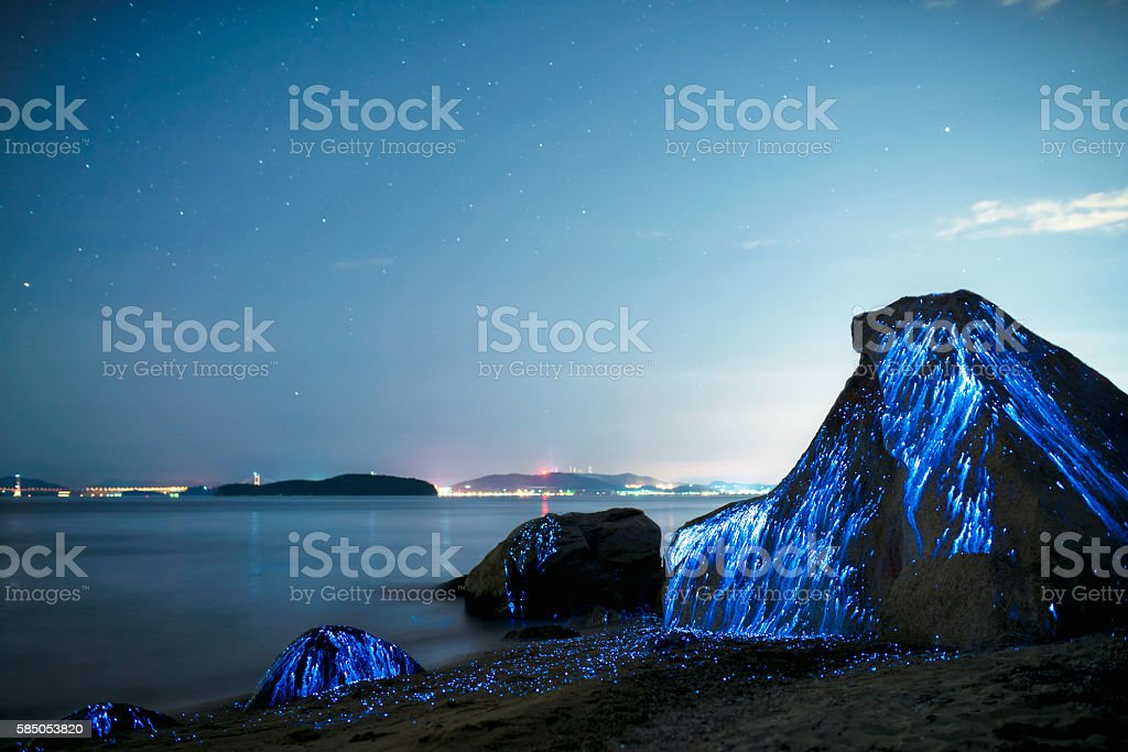 The weeping rocks stock photo