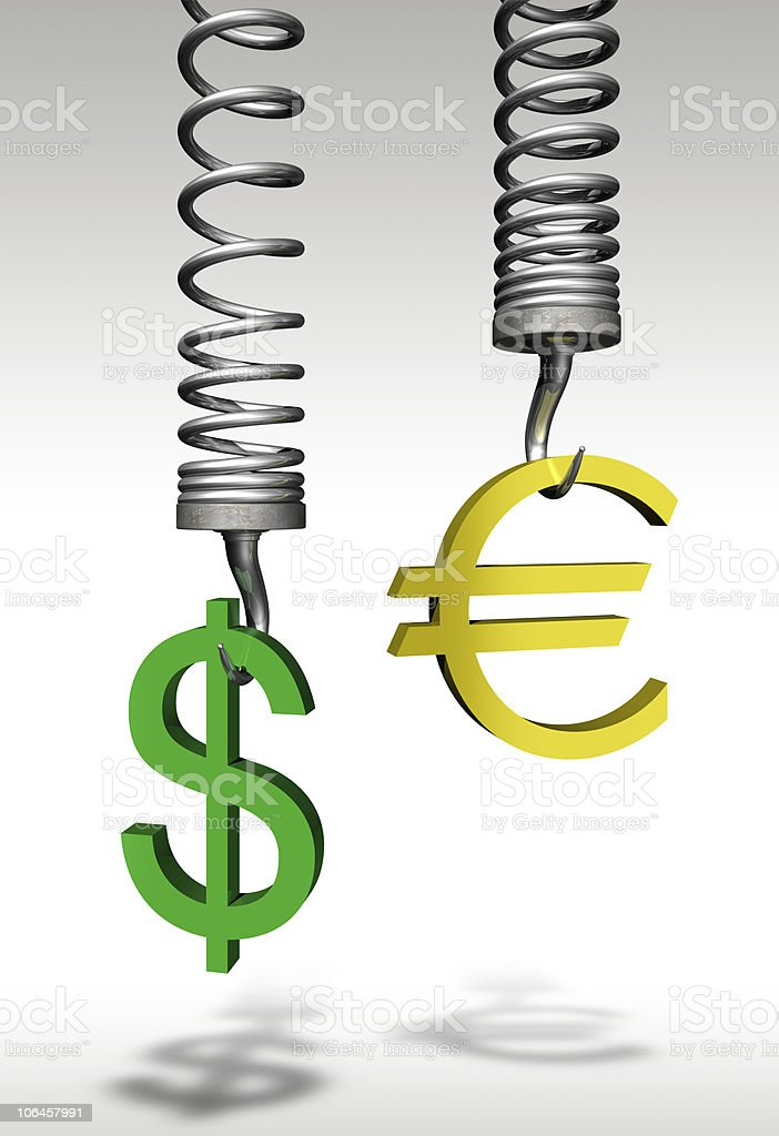 The weight of money stock photo