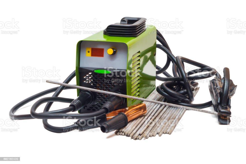 The welding machine stock photo