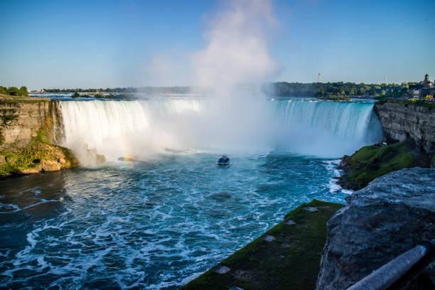 The well known Niagara Falls in Canada, Ontario stock photo