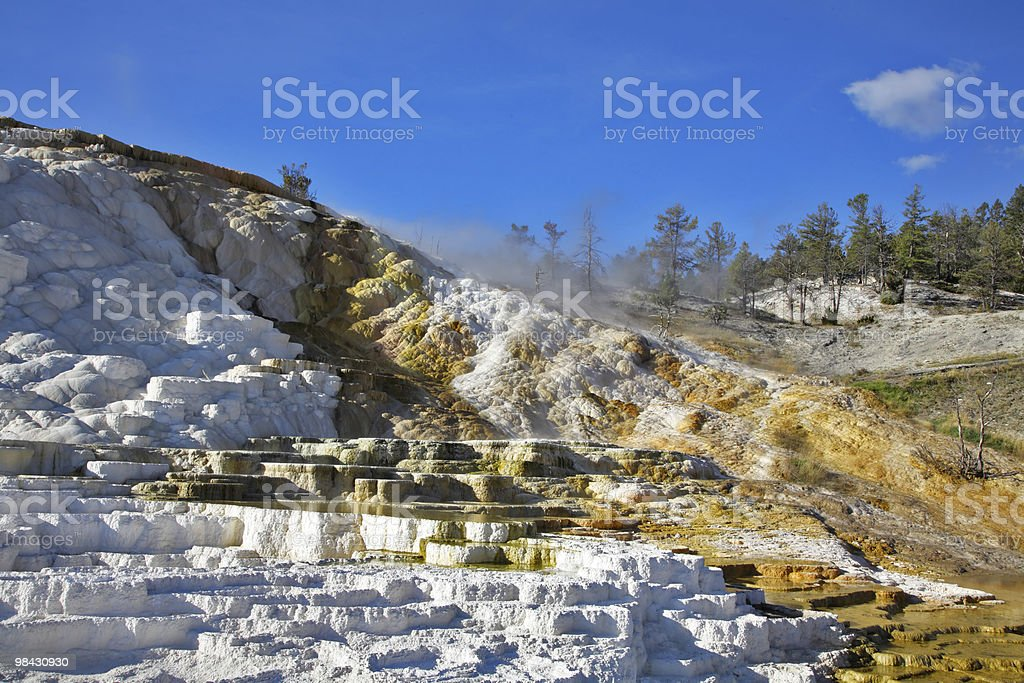 The well-known calcareous formations royalty-free stock photo