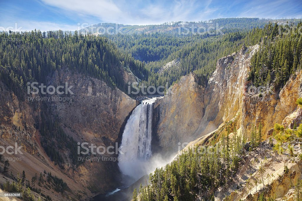 The well-known mountain falls. royalty-free stock photo
