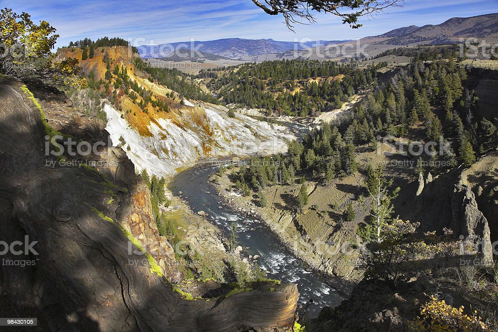 Il famoso Parco Nazionale di Yellowstone foto stock royalty-free