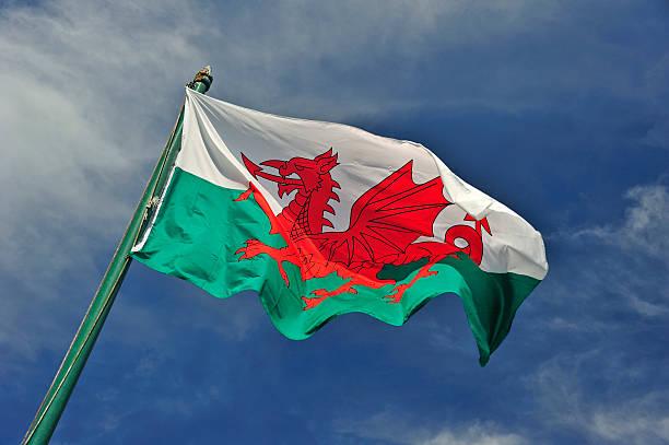 Die Walisische Flagge – Foto
