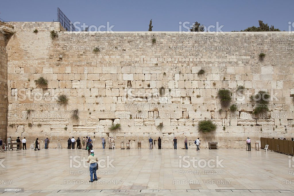 The Western wall in Jerusalem, Israel royalty-free stock photo