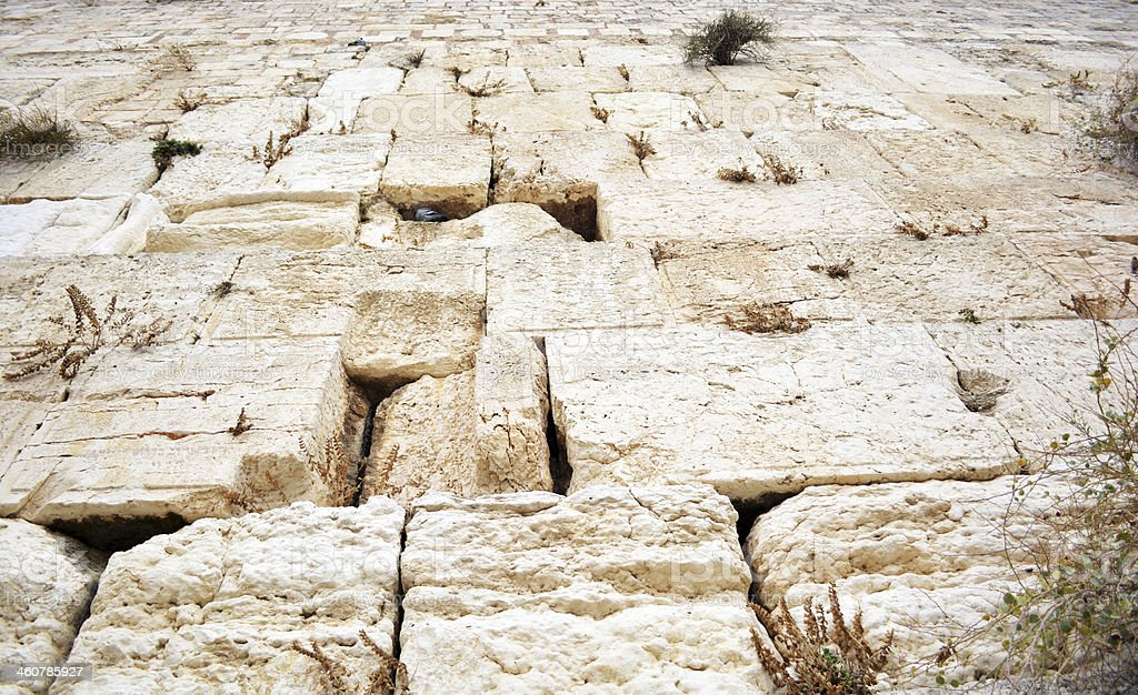 The Western Wall in Jerusalem royalty-free stock photo