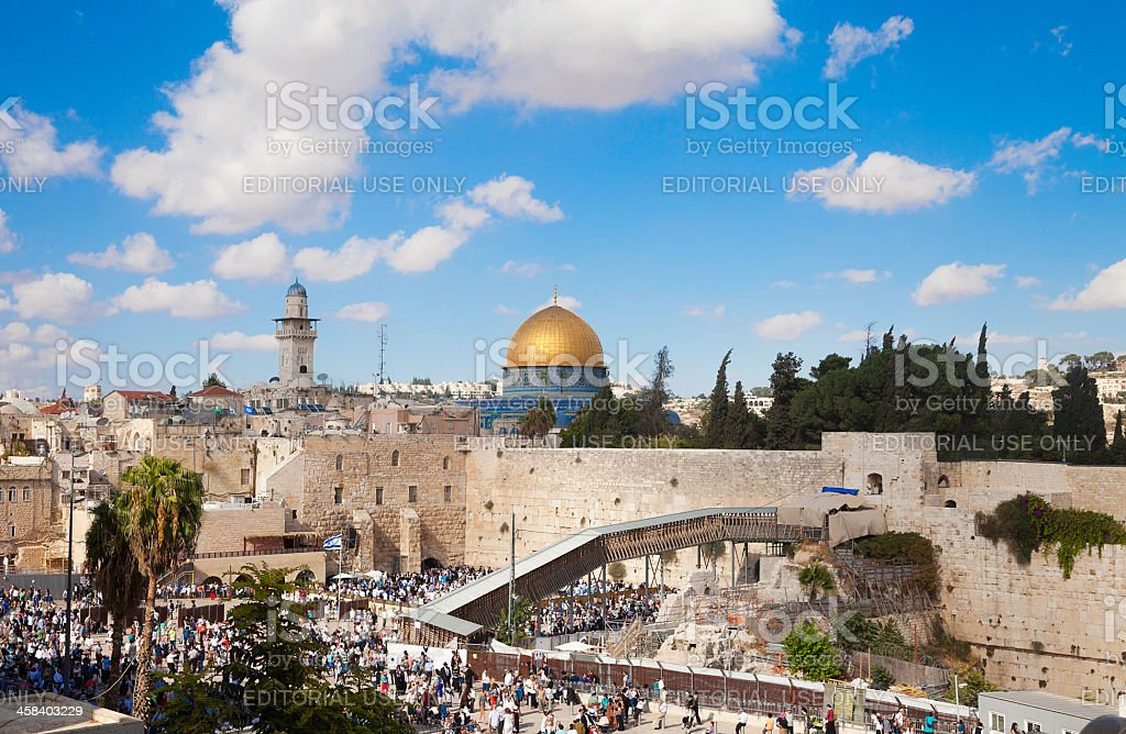 The Western Wall, Jerusalem, Isreal stock photo