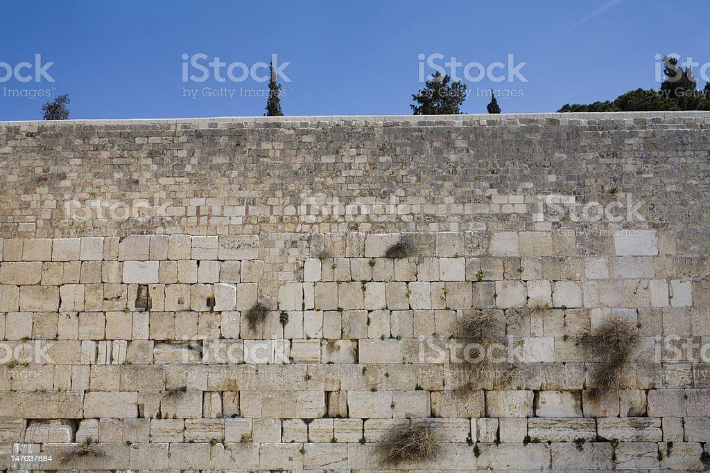 The Western Wall, Jerusalem royalty-free stock photo