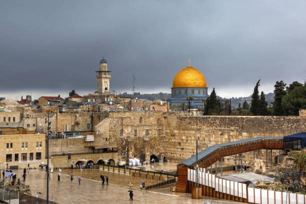 (Wehklagen) Klagemauer von der Altstadt von Jerusalem. – Foto