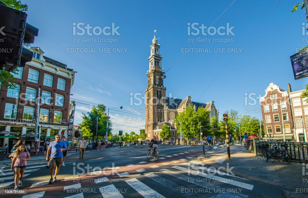 The Westertoren the signature of Amsterdam, Netherlands.