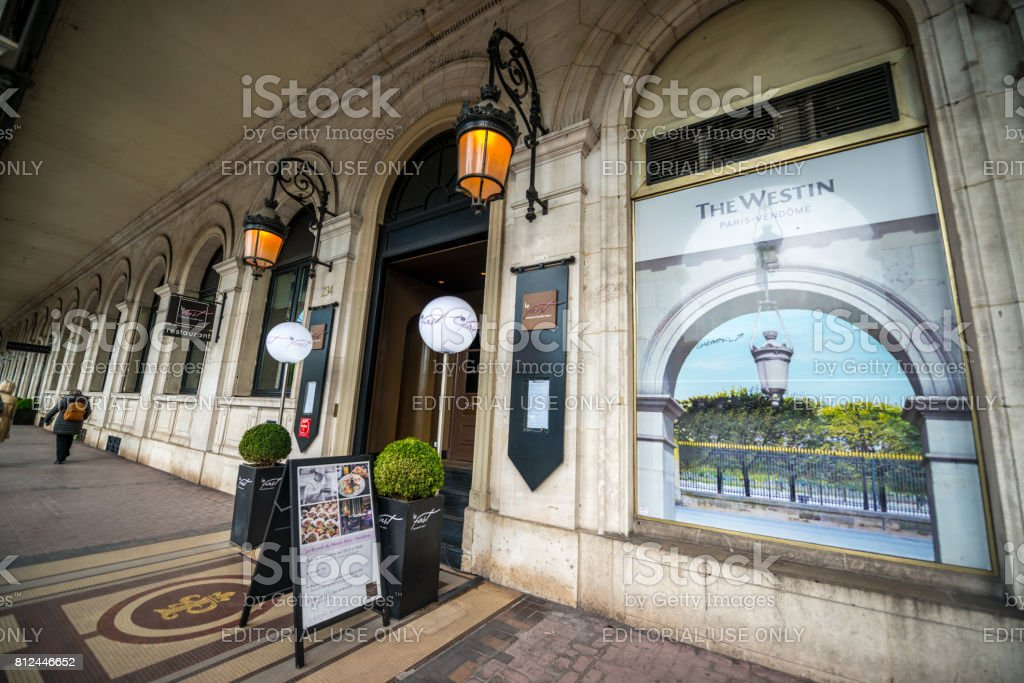 The Westin Place Vendome Hotel, Paris, France stock photo