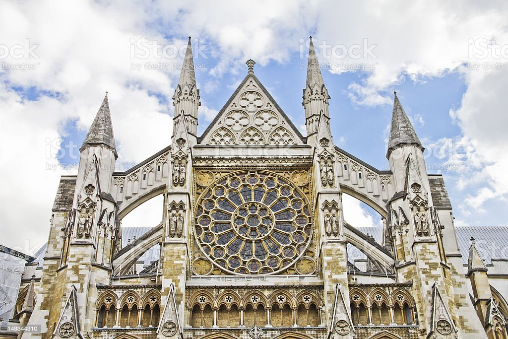 The Westminster Abbey, London stock photo