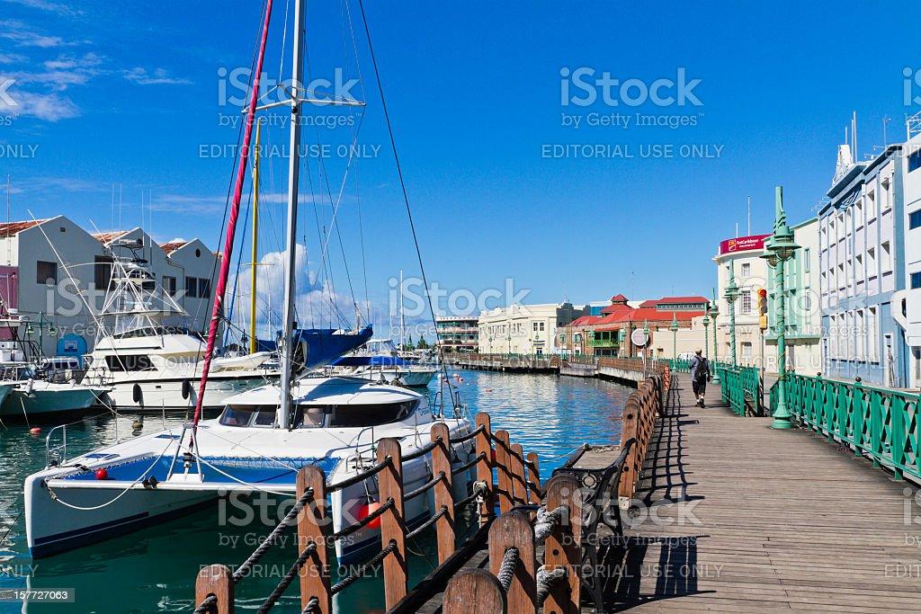 The Wharf and Careenage, Bridgetown, Barbados stock photo