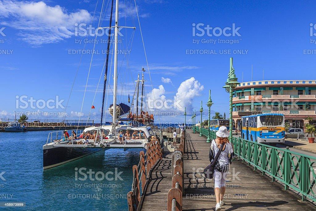 The Wharf, Bridgetown, Barbados stock photo