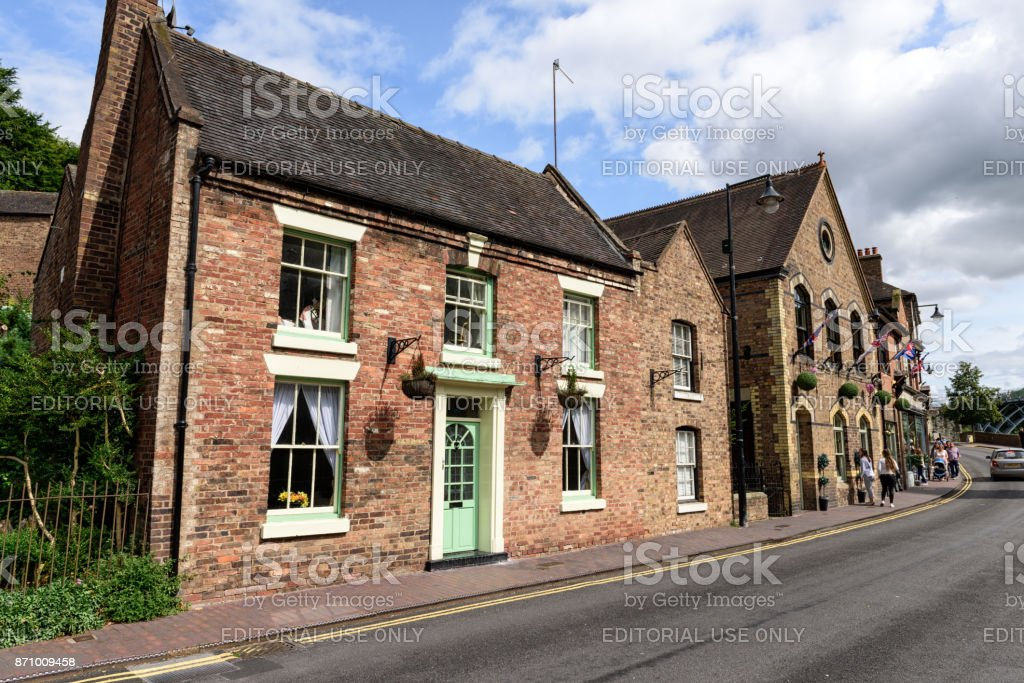 The Wharfage,  Ironbridge, Shropshire, England stock photo