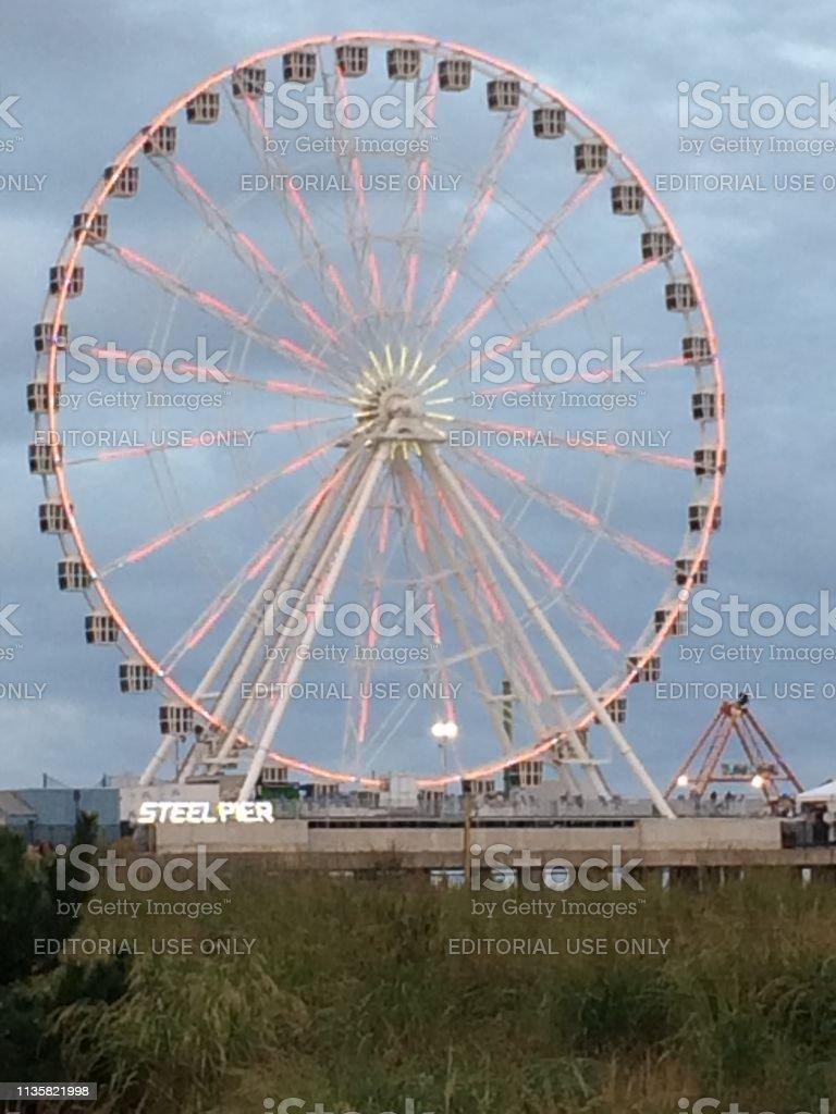 The Wheel, Atlantic City, NJ stock photo