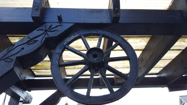 Royalty Free Antique Wooden Wagon Wheels For Sale