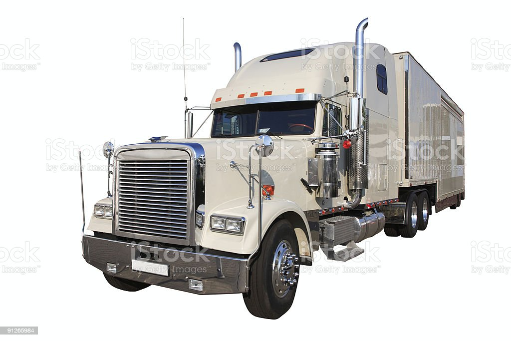 The white auto truck royalty-free stock photo